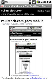 The new mobile site